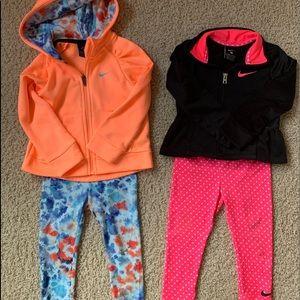 Nike toddler girls tracksuits - set of 2!